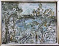 Unbekannter Expressionist Bäume am Seeufer Linnaeus? Schweden 29 x 37 cm