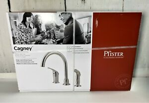 PFISTER LF-WK1-680S STAINLESS STEEL CAGNEY KITCHEN FAUCET WITH HAND SPRAYER