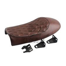 Retro Brown Rhombus Saddle Hump Custom Seat Kit for Honda  Cafe Racer