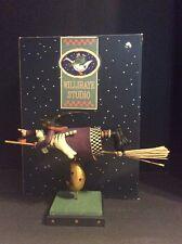 Williraye Studio Witch On A Broomstick Cat Halloween Conye's Co. Figure