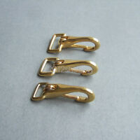 Solid Brass Halter Snaps Clips for Leather straps Bag Saddles Key chains