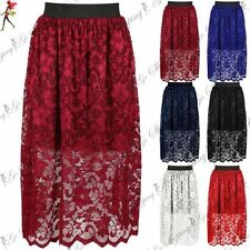 Polyester High Waist Floral Skirts for Women