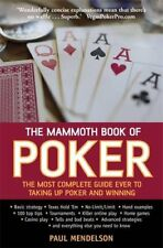 The Mammoth Book of Poker, Mendelson, Paul, Very Good condition, Book
