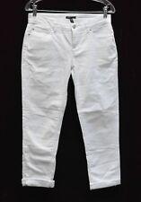 A6 Eileen Fisher ORG Cotton Stretch Denim White BOYFRIEND Jeans Size 4p