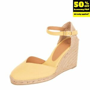CASTANER Canvas Ankle Strap Espadrille Shoes Size 37 UK 4.5 US 6.5 Wedge Woven
