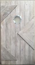 Rustic reclaimed solid lumber Doug Fir BARN DOOR weathered  grey finish 42 X 80