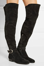 NIB 1,850+ GUCCI DIONYSUS Over The Knee Thigh High Boot Boots Black Suede 36 - 6