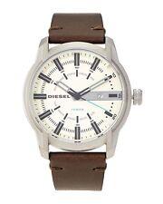 Diesel DZ1846 Armbar Olive Leather Strap Men's Watch 45mm NIB