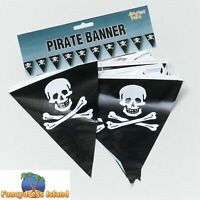 PIRATE PARTY BUNTING 7M 25 FLAGS One Size FAST POST Partyware & Decorations
