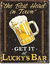 Luckys Bar Funny Metal Sign 410mm x 320mm   (de)   Fast dispatch from UK