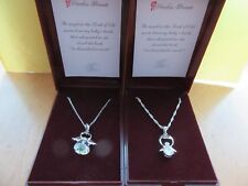 .925 SILVER BABY LOSS BEREAVEMENT MISCARRIAGE STILLBORN CRYSTAL ANGEL NECKLACE