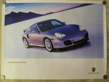 1999 Porsche 911 Turbo Coupe Showroom Advertising Sales Poster RARE Awesome L@@K