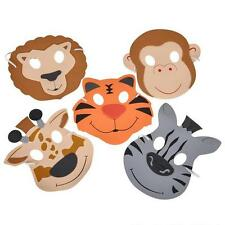 24 FOAM ZOO ANIMAL MASKS Kids Party Favor Lion Tiger Giraffe Monkey #AA18