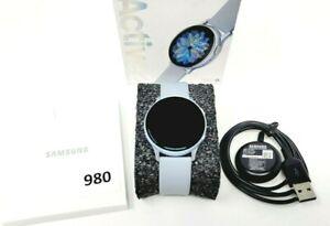 Samsung Galaxy Watch Active 2 SM-R830 40mm Aluminum Case Sport Band Blue/Silver