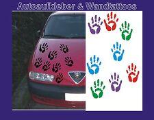 Autoaufkleber- Kinder Handabdrücke 6 Stück ( 3 links, 3 rechts) div. Farben 10cm