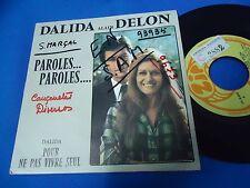 DALIDA & ALAIN DELON - PAROLES PAROLES - PORTUGAL 45 SINGLE