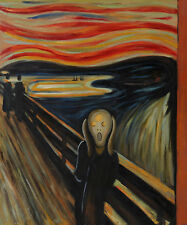 """Repro 20""""x24"""" Hand Painted Edvard Munch Oil Paintings on Canvas - The Scream"""
