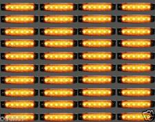 40 piezas 24v 6 LED intermitente lateral Naranja Ámbar Luces Para Iveco Daf Man