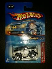 2005 Hot Wheels 1st Editions 4/10 - Blings - Mercedes-Benz G500 Silver Gray 34