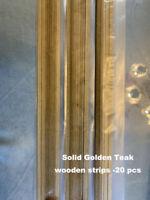 Golden Teak Strips 0.5x5x500mm Hull planking for Wood Ship Kit - Pack of 20