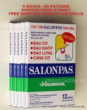 SALONPAS 60 Pain Relieving Patches Arthritis Muscle Pain Relief SYDNEY STOCK