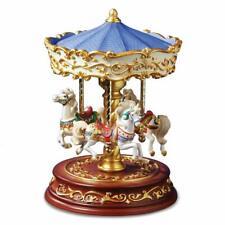 The San Francisco Music Box Company Heritage 3-Horse Rotating Carousel