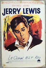Affiche Belge LE CLOWN EST ROI 3 Ring Circus JERRY LEWIS