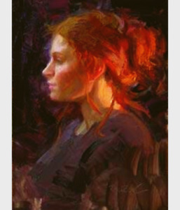 Scott Burdick - Rebecca Fire Lit  (Portrait in backlight)