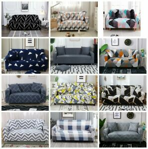 Printed Slipcover Sofa Covers Stretch Polyester Couch Cover Furniture Protector