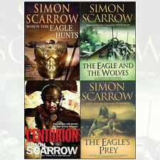 Simon Scarrow 4 Books Set Collection, The Eagle Hunts, Eagle And The Wolves etc