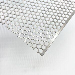 Edelstahl Gitter hexagonal HV7-9 1,0mm dick Muffler Schutz für Traktoren