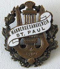 Men's Singing Club St. Paul Männergesangverein Rare Antique Badge