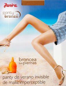 Janira Invisible 5 Denier Ultra-Sheer Tights Pantyhose :: X-Large :: Bronze