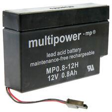 Multipower MP0.8-12H Heim & Haus Blei Akku für z.b. Rolladen 800 mAh 12V