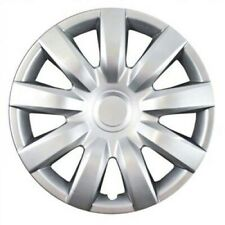 Nine Straight Spoke Silver Hubcaps Set Of Four 15 Inch Fits Ford
