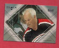 1999-00 RED WINGS GORDIE HOWE GALLERY # GH1 BALCK DIAMOND INSERT CARD