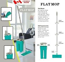E@syMop Wash & Squeeze Dry Flat Mop with Bucket Kit
