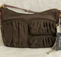 MZ Wallace Coco Crossbody Bag Chocolate Brown Nylon NEW