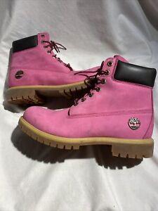 Timberland Susan G Komen New Pink Leather Boots Size (11 Women)( 9.5 Men) 6254A