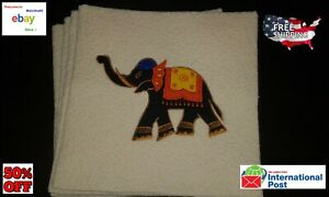 Elephant large Cushion Cover applique quilting 4Pcs Unique Hand made Sri Lankan