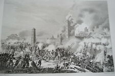 NAPOLEON COMBAT DE RATISBONNE  GRAVURE 1838 VERSAILLES R1157 IN FOLIO