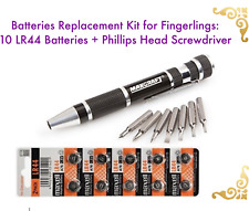 NEW WowWee Fingerlings Battery Replacement Kit / 10 LR44 Batteries + Screwdriver