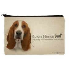 Basset Hound Dog Breed Pencil Pen Organizer Zipper Pouch Case