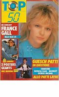 Magazine TOP 50 92 complet SANDRA gall KAAS bachelet GEORGE MICHAEL patti