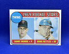 1969 TOPPS #99 TWINS ROOKIE STARS GRAIG NETTLES / DANNY MORRIS CARD. rookie card picture