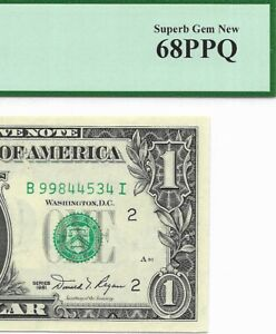 1981 $1 NEW YORK FRN, PCGS SUPERB GEM NEW 68 PPQ UNCIRCULATED BANKNOTE