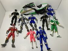 Vintage Power Rangers Action Figures And Motorcycle-Various Years and Brands