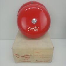 Simplex Str 4027 64 6 Red Single Stroke Bell Part 624 246 240v Ac Nos W Mount