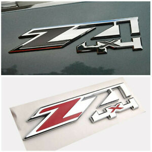 Z71 Auto Car Sticker Red Chrome ABS Decoration 4X4 For Chevy Silverado Serie GMC