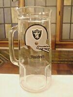 """Vintage NFL Football OAKLAND RAIDERS BEER GLASS MUG 6 7/8"""" Tall"""